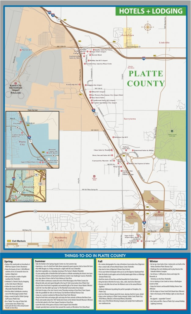 Platte County Hotels and Lodging Map