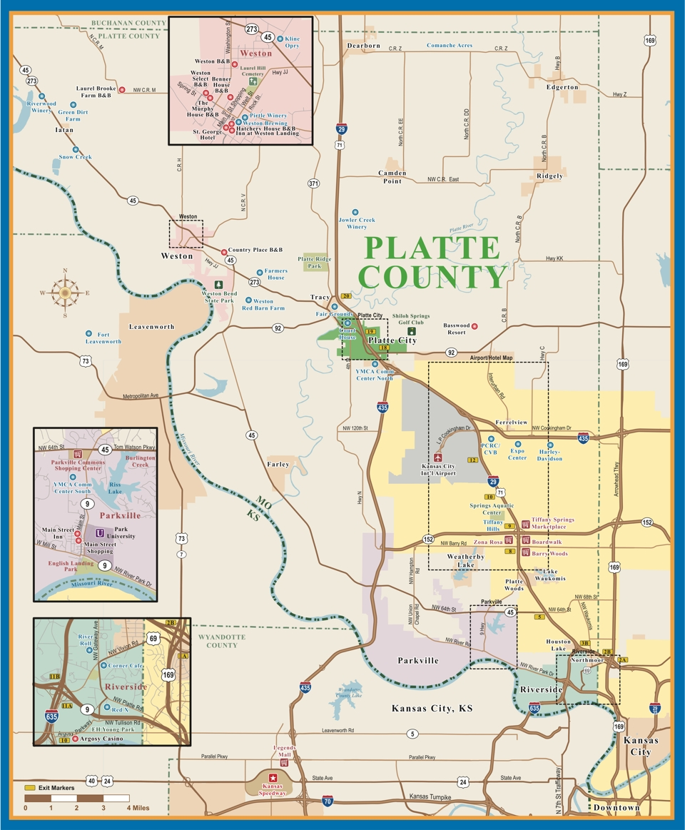 Platte County Maps Visit Platte County MO - County map of missouri